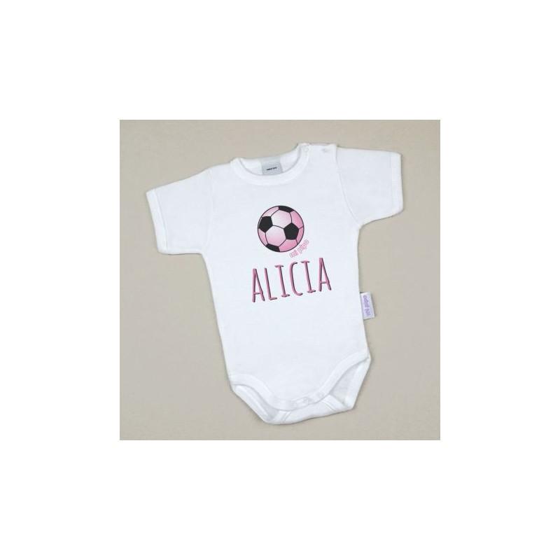 Body Bebé Personalizado con nombre estampado Balón Rosa