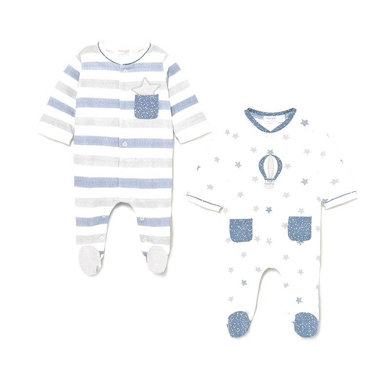 Set 2 Pijamas Punto Bebé Recién Nacido MAYORAL Color LAKE