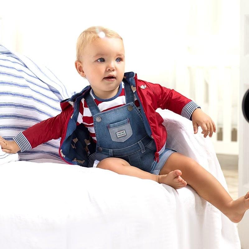 Cortavientos Reversible para Bebé Recién Nacido MAYORAL Color TOMATE