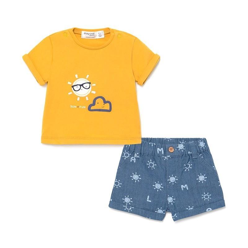 Conjunto pantalón corto para Bebé Recién Nacido MAYORAL Color BLUE