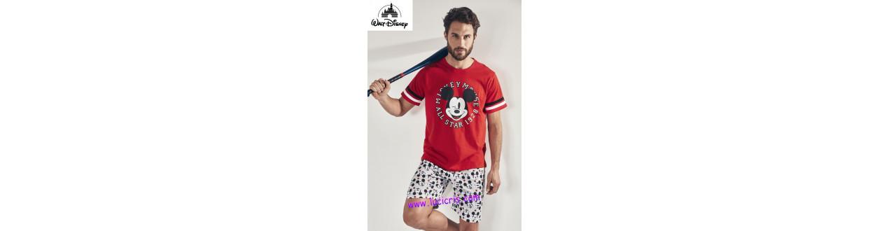 Hombre | Pijamas y Batas | Disney - Mr Wonderful - Mickey Mouse- Smiley