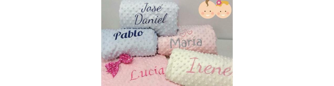 Personalizados de Bebé con Nombre - Mantas - Chupetes-